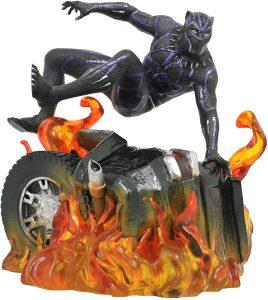 Figura Diamond de Black Panther sobre el fuego - Las mejores figuras Diamond de Black Panther- Figuras coleccionables de Black Panther - Pantera Negra