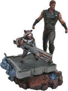 Figura Diamond de Rocket Racoon y Thor - Las mejores figuras Diamond de Rocket Racoon de Guardianes de la Galaxia - Figuras coleccionables de Rocket Racoon