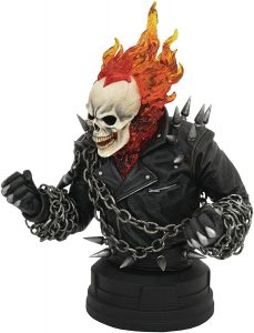 Figura Diamond del Motorista Fantasma Busto - Las mejores figuras Diamond de Ghost Rider - Figuras coleccionables del Motorista Fantasma