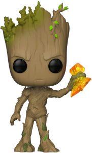 Figura Funko POP de Groot de Guardianes de la Galaxia con el Stormbreaker