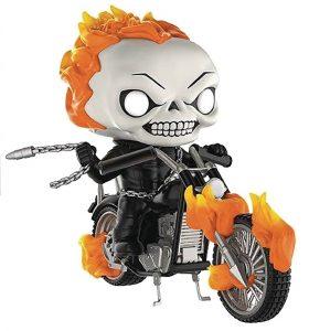 Figura Funko POP del Motorista Fantasma con moto
