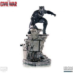 Figura de Black Panther de Civil War de Iron Studios - Figuras coleccionables de Black Panther - Pantera Negra