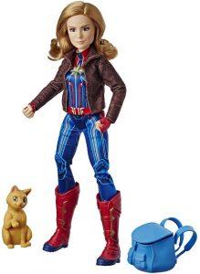 Figura de Capitana Marvel con Goose de Habro- Figuras coleccionables de Capitana Marvel - Captain Marvel