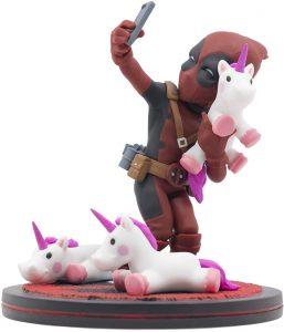 Figura de Deadpool de los X-Men con unicornios de Quantum Mechanix - Figuras coleccionables de Deadpool