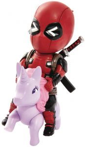 Figura de Deadpool de los X-Men sobre unicornio de Beast Kingdom - Figuras coleccionables de Deadpool