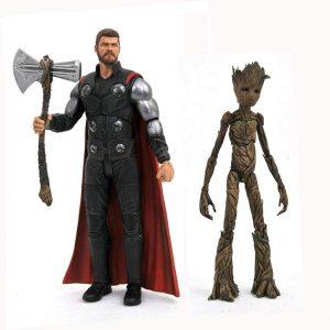 Figura de Groot y Thor de Guardianes de la galaxia de Iron Studios - Figuras coleccionables de Groot