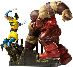 Figura de Lobezno vs Juggernaut de los X-Men de Iron Studios - Figuras coleccionables de Lobezno