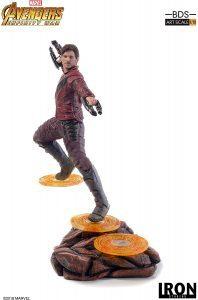 Figura de Star Lord de Guardianes de la galaxia de Iron Studios en Infinity War - Figuras coleccionables de Star Lord
