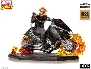 Figura del Motorista Fantasma de Iron Studios - Figuras coleccionables de Ghost Rider - El motorista fantasma