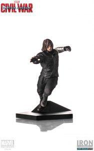 Figura del Soldado de Invierno Bucky Barnes en Civil War de Iron Studios - Figuras coleccionables del Soldado de Invierno - The Winter Soldier