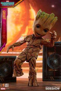 Hot Toys de Mini Dancing Groot de Guardianes de la Galaxia Volumen 2 - Los mejores Hot Toys de Groot - Figuras coleccionables de Guardianes de la Galaxia