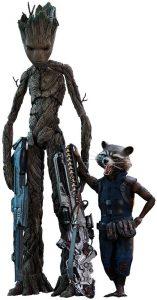 Hot Toys de Rocket Racoon y Groot de Vengadores Infinity War - Los mejores Hot Toys de Rocket Racoon - Figuras coleccionables de Guardianes de la Galaxia