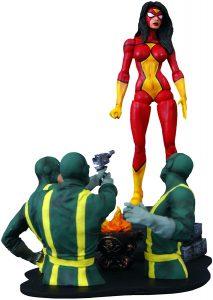 Figura Diamond de Spider Woman con Hydra - Las mejores figuras Diamond de Spiderwoman - Figuras coleccionables de Spider Woman