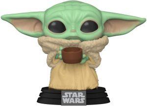 Figura Funko POP de Baby Yoda con vaso