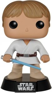 Figura Funko POP de Luke Skywalker con sable azul clásico