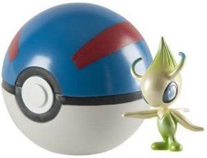 Figura de Celebi con Pokeball de Takara Tomy - Figuras coleccionables de Celebi de Pokemon