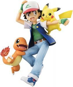 Figura de Charmander con Pikachu y Ash de Megahouse - Figuras coleccionables de Charizard de Pokemon