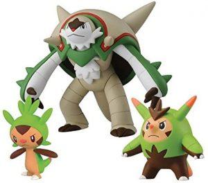 Figura de Chespin, Quilladin y Chesnaught de Takara Tomy - Figuras coleccionables de Chespin de Pokemon