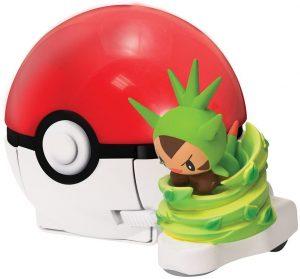 Figura de Chespin con Pokeball de Bizak - Figuras coleccionables de Chespin de Pokemon