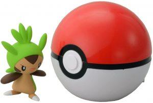 Figura de Chespin con Pokeball de Takara Tomy - Figuras coleccionables de Chespin de Pokemon