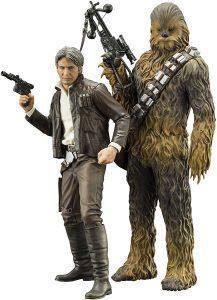 Figura de Chewbacca y Han Solo Episodio 7 de Kotobukiya - Figuras coleccionables de Chewbacca de Star Wars