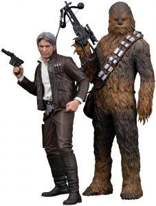 Figura de Chewbacca y Han Solo Episodio 7 de Kotobukiya - Figuras coleccionables de Han Solo de Star Wars