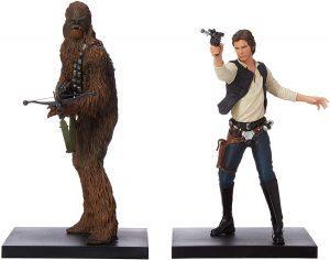 Figura de Chewbacca y Han Solo de Kotobukiya - Figuras coleccionables de Chewbacca de Star Wars