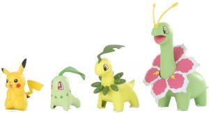Figura de Chikorita, Bayleef, Meganium de Takara Tomy - Figuras coleccionables de Chikorita de Pokemon