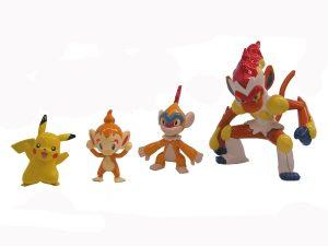 Figura de Chimchar, Monferno e Infernape de Takara Tomy - Figuras coleccionables de Chimchar de Pokemon