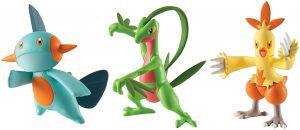 Figura de Combusken, Marshtomp y Grovyle de Takara Tomy - Figuras coleccionables de Grovyle de Pokemon