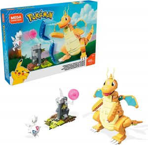 Figura de Dragonite vs Togetic de Mega Construx - Figuras coleccionables de Dragonite de Pokemon