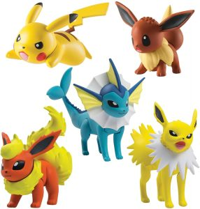 Figura de Eevee, Pikachu, Jolteon, Vaporeon, Flareon de Takara Tomy - Figuras coleccionables de Eevee de Pokemon