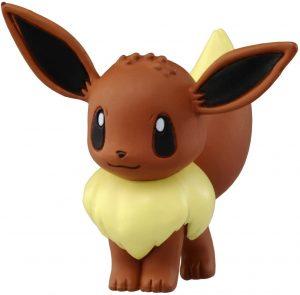 Figura de Eevee de Takara Tomy básico - Figuras coleccionables de Eevee de Pokemon