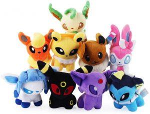 Figura de Eevee de colección de 9 minipeluches - Figuras coleccionables de Eevee de Pokemon