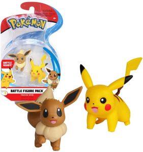 Figura de Eevee y Pikachu de Pokemon Battle - Figuras coleccionables de Eevee de Pokemon