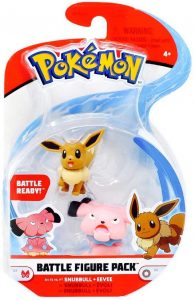 Figura de Eevee y Snubbull de Pokemon Battle - Figuras coleccionables de Eevee de Pokemon