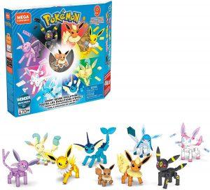 Figura de Eevee y sus evoluciones de Mega Construx - Figuras coleccionables de Eevee de Pokemon