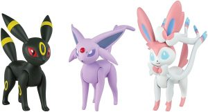 Figura de Espeon, Umbreon, Sylveon de Takara Tomy - Figuras coleccionables de Eevee de Pokemon