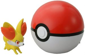 Figura de Fennekin con Pokeball de Takara Tomy - Figuras coleccionables de Fennekin de Pokemon