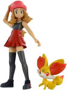 Figura de Fennekin y Serena de Kotobukiya - Figuras coleccionables de Fennekin de Pokemon