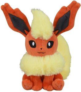 Figura de Flareon de Peluche - Figuras coleccionables de Eevee de Pokemon