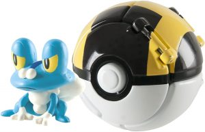 Figura de Froakie con Pokeball de Takara Tomy - Figuras coleccionables de Greninja de Pokemon
