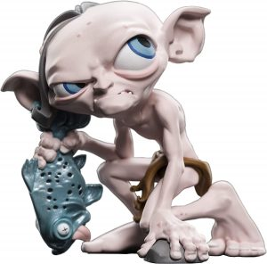 Figura de Gollum con pescado de Weta Collectibles - Figuras coleccionables de Gollum del Señor de los anillos
