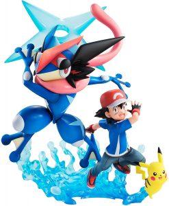 Figura de Greninja, Ash y Pikachu Premium de Megahouse - Figuras coleccionables de Greninja de Pokemon