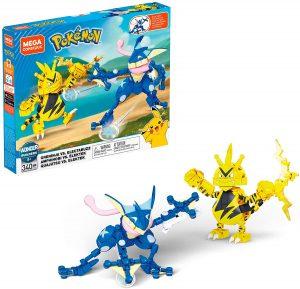 Figura de Greninja vs Electabuzz de Mega Construx - Figuras coleccionables de Greninja de Pokemon