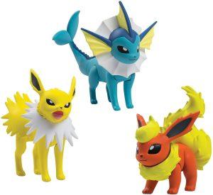 Figura de Jolteon, Vaporeon, Flareon de Takara Tomy - Figuras coleccionables de Eevee de Pokemon