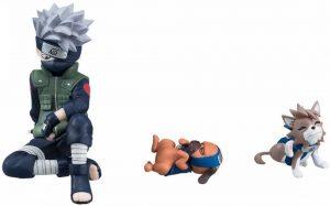 Figura de Kakashi con perros de Naruto de Megahouse - Figuras coleccionables de Kakashi