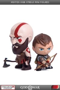 Figura de Kratos y ATREUS de God of War 4 de Gaming Heads - Figuras coleccionables de God of War
