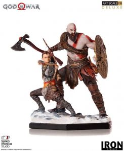 Figura de Kratos y ATREUS de God of War 4 de Iron Studios - Figuras coleccionables de God of War