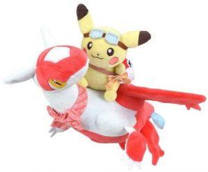 Figura de Latias con Pikachu de Peluche - Figuras coleccionables de Latias de Pokemon